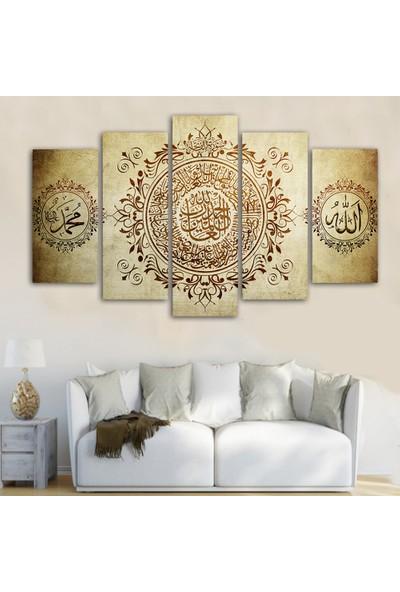 Dekorme İslami 5 Parçalı Kanvas Tablo