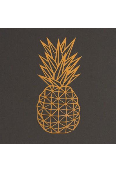 Foccaa Dizayn Sarı Ananas Metal Tablo