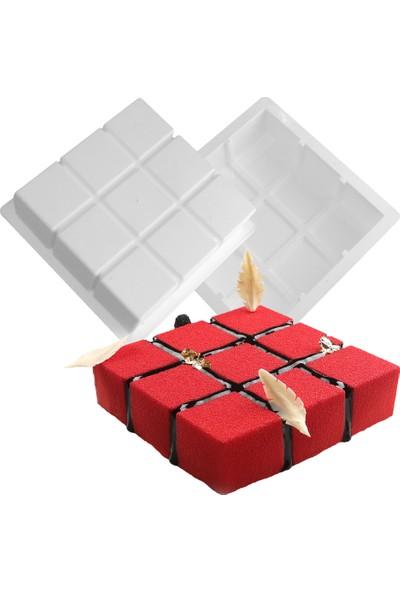 Cesil Cube Profesyonel Silikon Kek Pasta Kalıbı