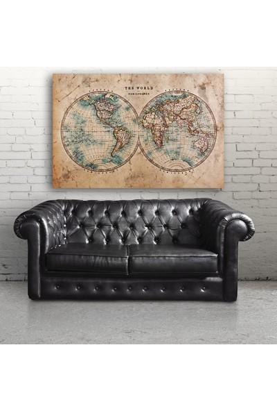 Tek Tablo Dünya Haritası Kanvas Tablo