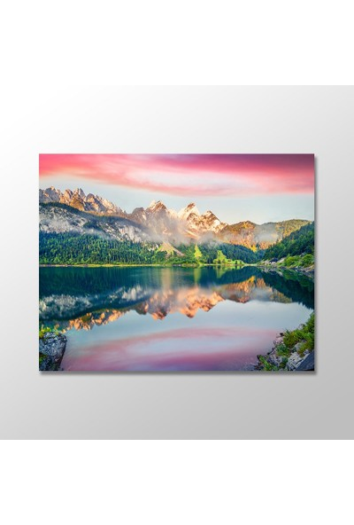 Tek Tablo Avusturya Alpleri'nde Renkli Gün Doğumu Manzara Kanvas Tablo