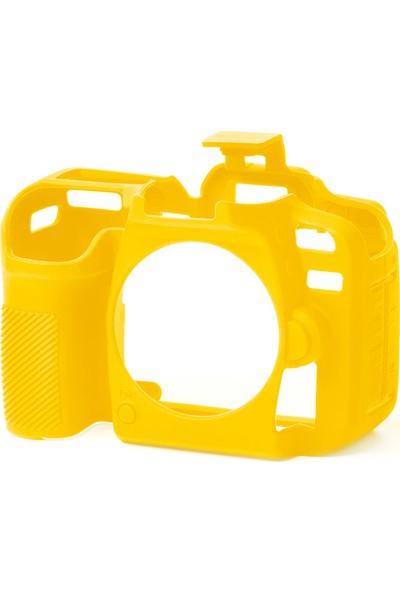 Easycover Nikon D7500 Silikon Kılıf + Ekran Koruyucu ( Sarı )