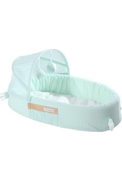 Tossiee Portatif Bebek Yatağı - Yeşil