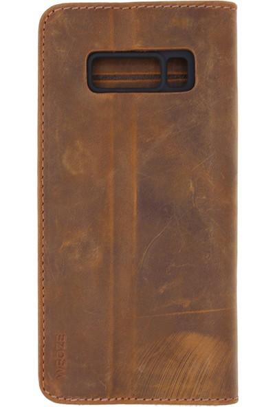 Weoze Deri Samsung Galaxy Note 8 Kapaklı Kılıf