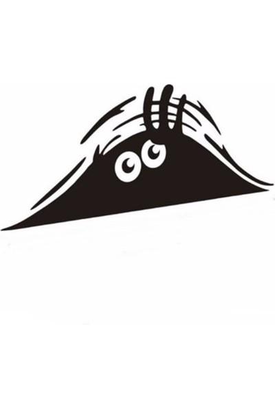 Sofera Şaşırmış Bagaj Canavarı Araç Sticker CS055