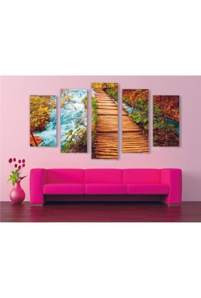 Agf Tablo Asma Köprü Temalı Dekoratif 5 Parça Mdf Tablo