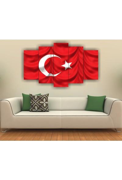 Agf Tablo Türk Bayrağı Temalı Dekoratif 5 Parça Mdf Tablo