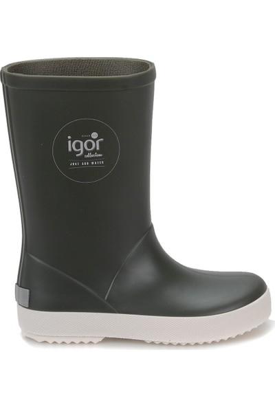 Igor W10107 Splash Nautico-042 Haki Unisex Çocuk Yağmur Çizmesi