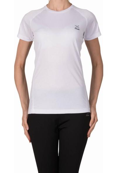 Kinetix A5133565 Beyaz Açık Fuşya Kadın T-Shirt