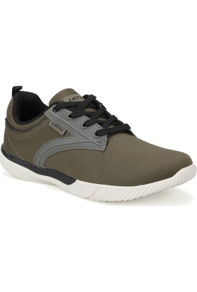 Lotto Floric Koyu Haki Siyah Erkek Sneaker Ayakkabı