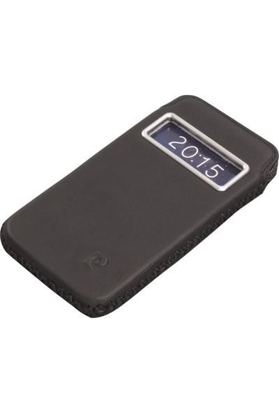 Pierre Cardin iPhone 6 Deri Kese Koruma Kılıfı Siyah PCF-J02