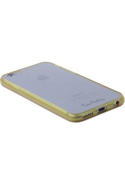 Pierre Cardin iPhone 6 Silikon Arka Koruma Paneli Sarı PCZ-S05