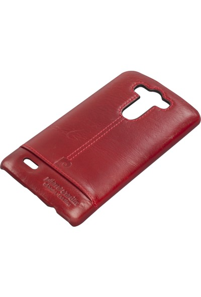 Pierre Cardin LG G3 Deri Arka Koruma Paneli Kırmızı PCL-P03
