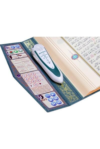 Hayrat Kur'An Kalemi Kur'An Okuyan Kalem Kur'An Lila Yeşil Orta Boy Hayrat Neşriyat Yayınları