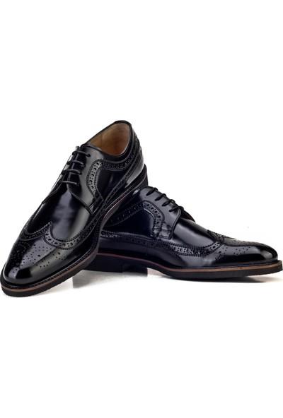 Cabani Extralight Taban Bağcıklı Günlük Erkek Ayakkabı Siyah Açma Deri