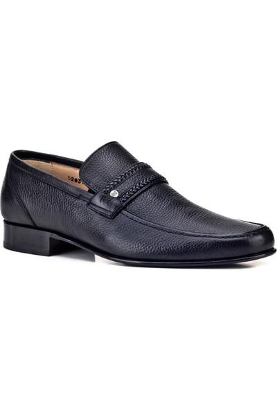 Cabani Kösele Enjeksiyonlu Klasik Erkek Ayakkabı Siyah Naturel Floter Deri