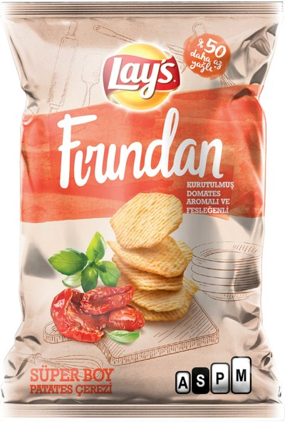 Lay's Baked Kurutulmuş Domates & Fesleğen Patates Cipsi 100 Gr