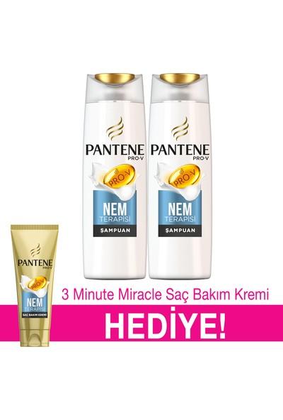 Pantene Şampuan Nem Terapisi 500 ml 2'li Paket + 3 Minute Miracle Saç Bakım Kremi 200 ml