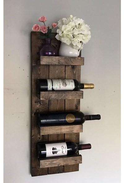 Ada Ahşap Atölyesi Dekoratif Duvar Tipi Şaraplık