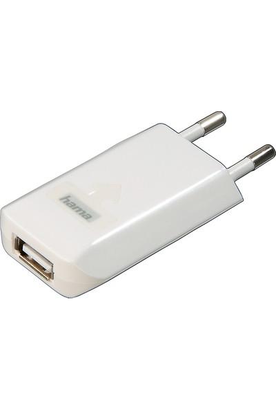 Hama Apple Şarj Cihazı USB 1000 mAh Beyaz HM.14123