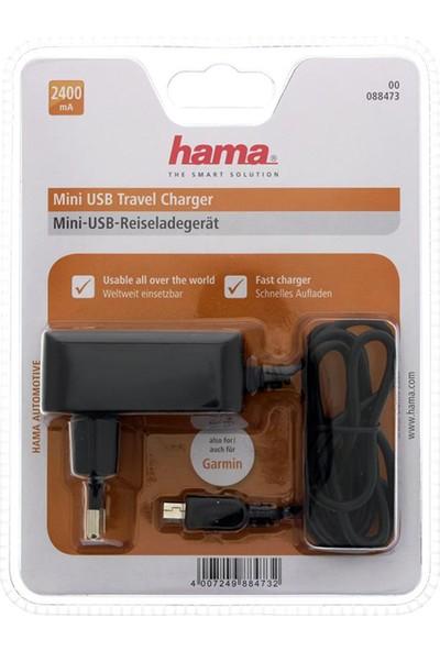 Hama Mini USB Şarj Cihazı 2400 mAh Siyah - HM.88473