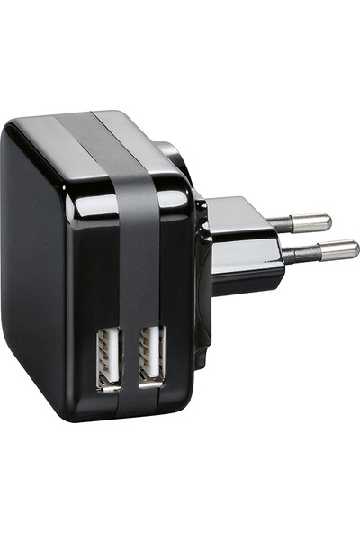 Hama Şarj Cihazı 2XUSB 4200 mAh Siyah - HM.107802