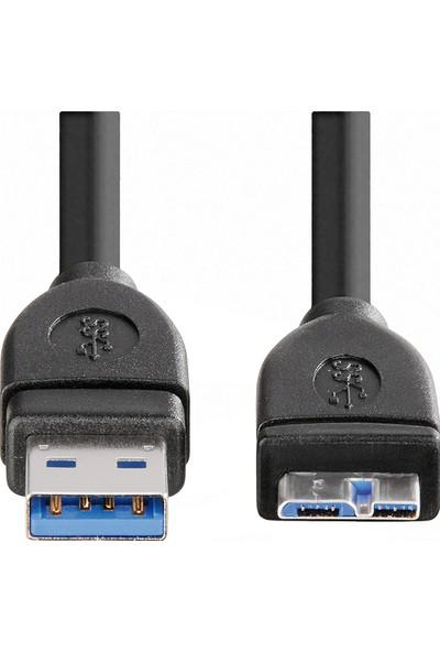 Hama USB 3.0 A Fiş - Micro B Fiş Kablo Siyah 3 m - HM.54508
