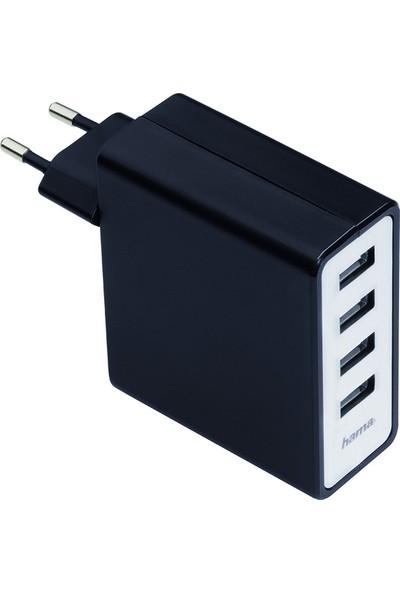 Hama 4 Port Şarj Cihazı USB 5100 mAh - HM.54182