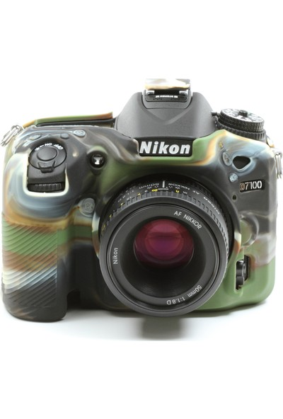 EasyCover Nikon D7100/D7200 Silikon Kılıf ECND7100C (Kamuflaj)