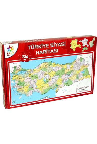 Laço Kids Türkiye Siyasi Haritası Puzzle ( 136 Parça )
