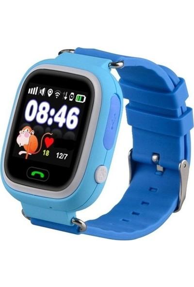 Alcatech Q90 Dokunmatik GPS-Telefon Akıllı Çocuk Saati - Mavi