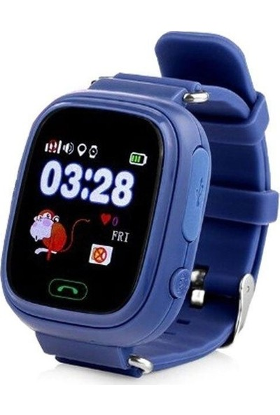 Alcatech Q90 Dokunmatik GPS-Telefon Akıllı Çocuk Saati - Lacivert