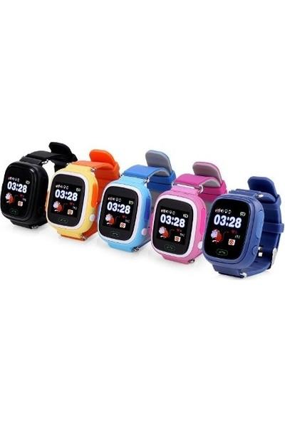 Alcatech Q90 Dokunmatik GPS-Telefon Akıllı Çocuk Saati - Siyah