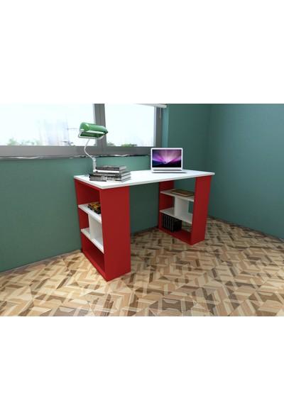 Rafline Clove Çalışma Masası Kırmızı