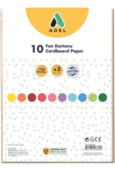 Adel Fon Kartonu 25x35 Karışık 10'lu