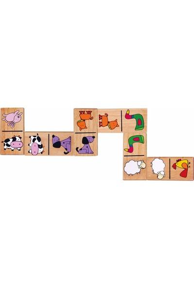 Vıga Toys Çiftlik Hayvanları Ahşap Domino