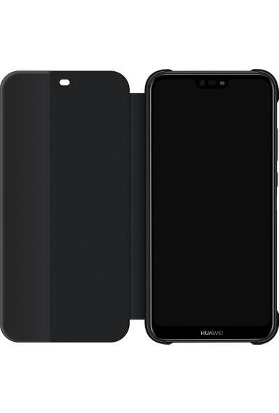 Huawei Anne P20 Lite Flip Cover - Siyah