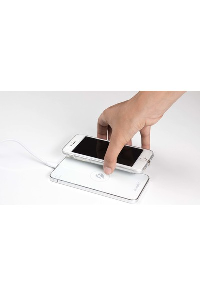FluxPort Fluxy AirCase iPhone 6 Plus/6S Plus /7 Plus Kablosuz Sarj Kılıfı Gümüş