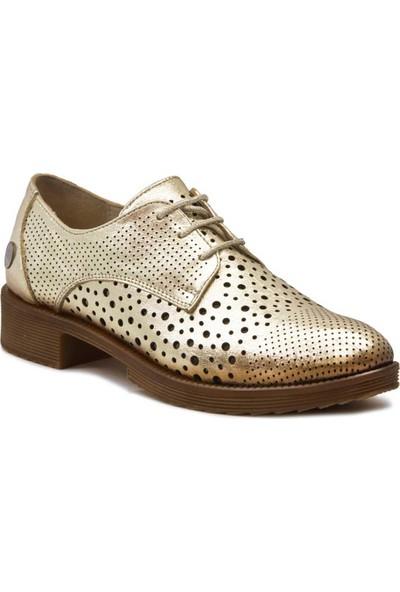 Mammamia D18Ya-270 Deri Kadın Ayakkabı Dore