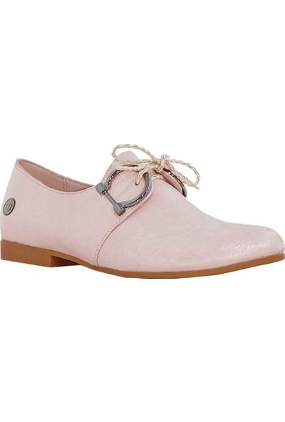 Mammamia D18Ya-3810 Deri Kadın Ayakkabı Pudra