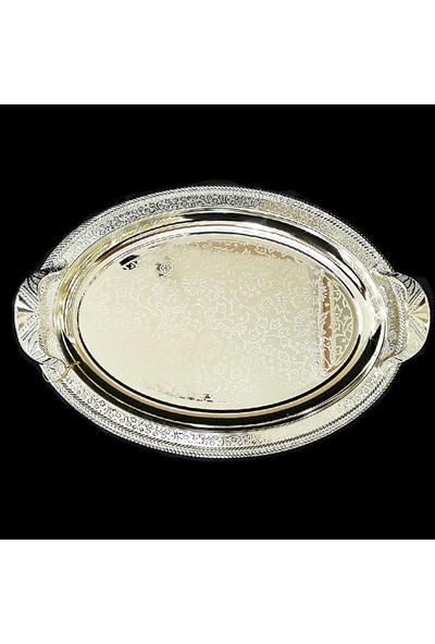 Alara Gümüş Oval Tepsi, Kararmaz Orta Boy. S2219.2G