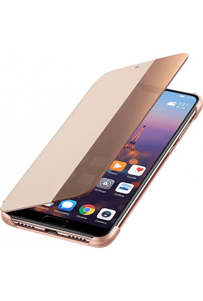 Huawei Emily P20 Smart View Cover - Pembe