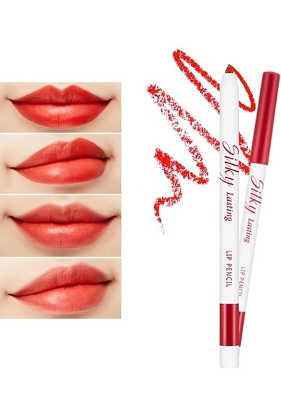 Missha Silky Lasting Lip Pencil (RD04/Apple Burnt)