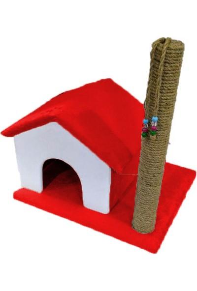 Pet Style Süngerli 55 Cm Tırmalamalı Dekoratif Kedi Evi