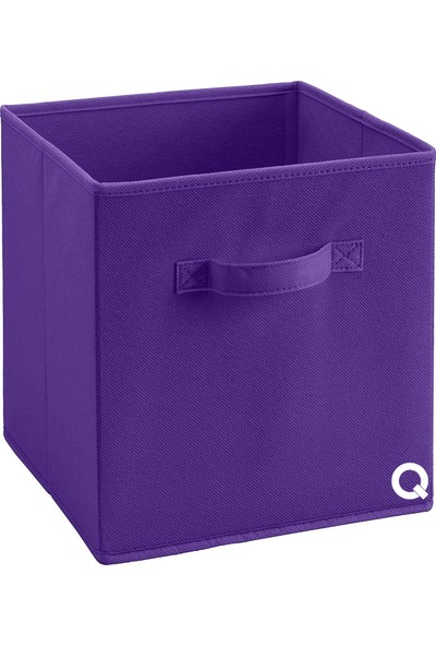 Rani Q1 Large Çok Amaçlı Dolap İçi Düzenleyici Kutu Dekoratif Saklama Kutusu Raf Organizer Mor