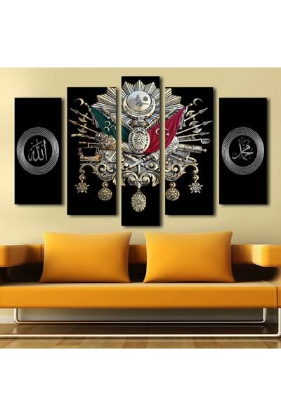 Agf Tablo Osmanlı Arma Dekoratif 5 Parça Kanvas Tablo