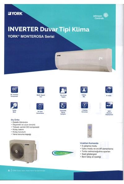 York MonteRosa YHKE12ZE--MMORX 12.000 Btu İnverter Duvar Tipi Klima