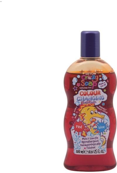 Crazy Soap Çocuklar için Renk Değiştiren Banyo Sabunu 300 ml Kırmızıdan Maviye