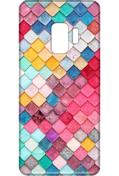 Mobilteam Samsung Galaxy S9 Renkli Taşlı Silikon Telefon Kılfı