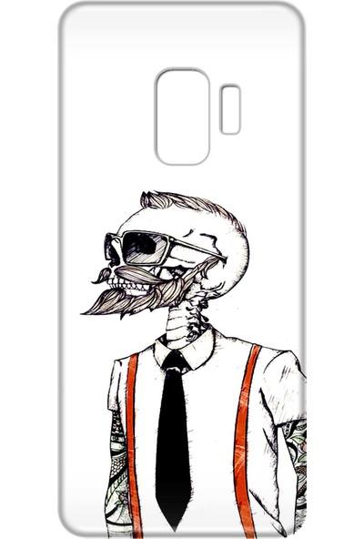 Mobilteam Samsung Galaxy S9 Hipster Kurukafa Silikon Telefon Kılıfı